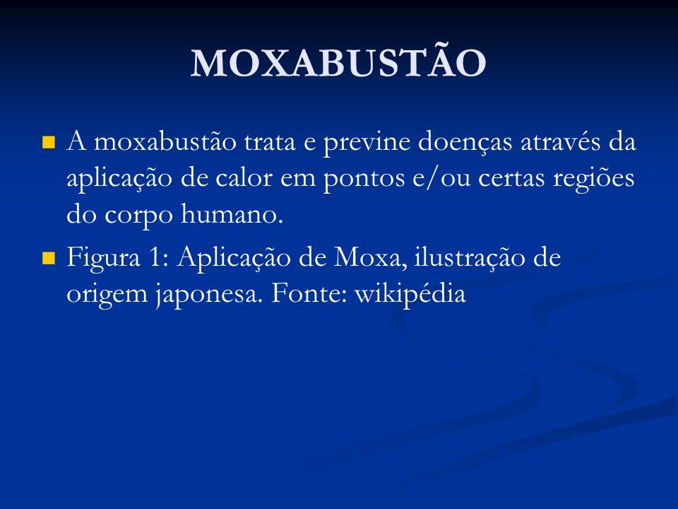 MOXABUSTÃOA moxabustão trata e previne doenças através da aplicação de calor em pontos e/ou certas regiões do corpo humano.