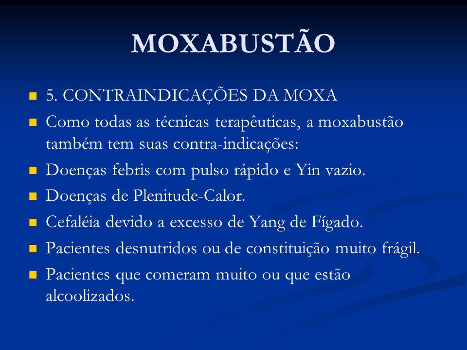 MOXABUSTÃO 5. CONTRAINDICAÇÕES DA MOXA