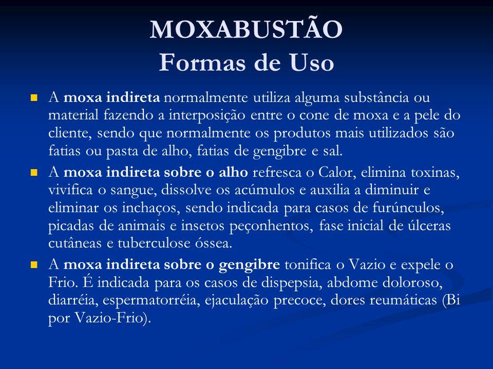 MOXABUSTÃO Formas de Uso