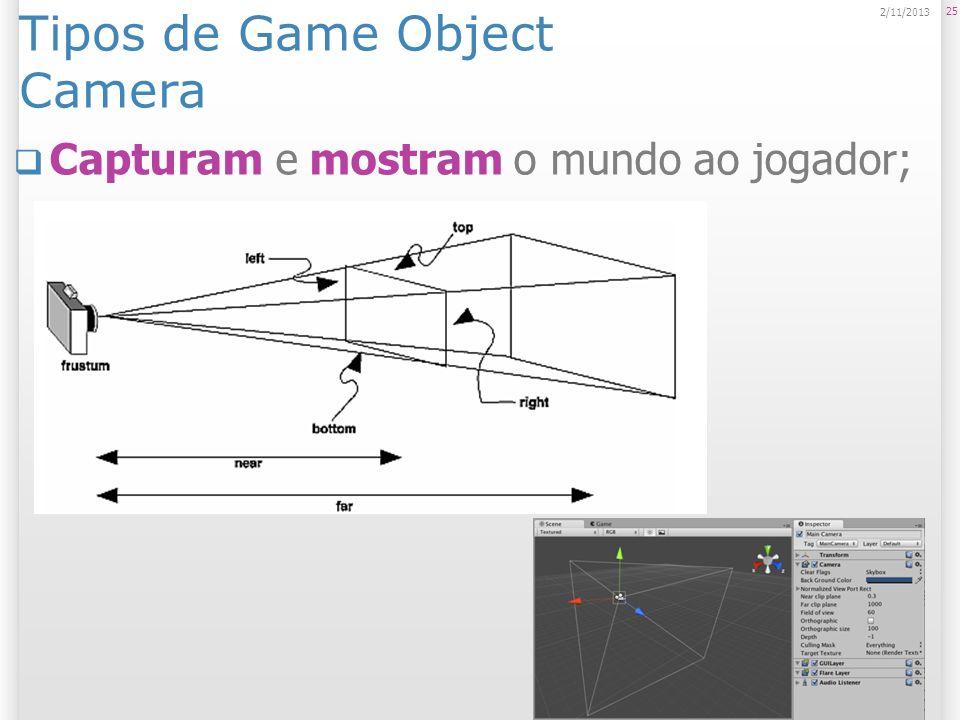 Tipos de Game Object Camera