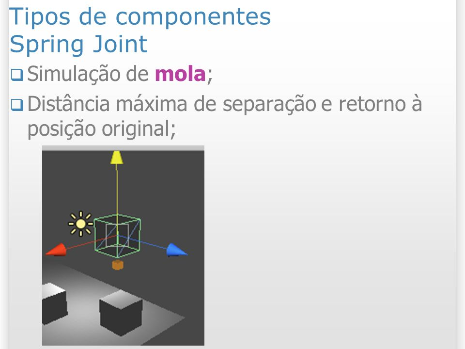 Tipos de componentes Spring Joint