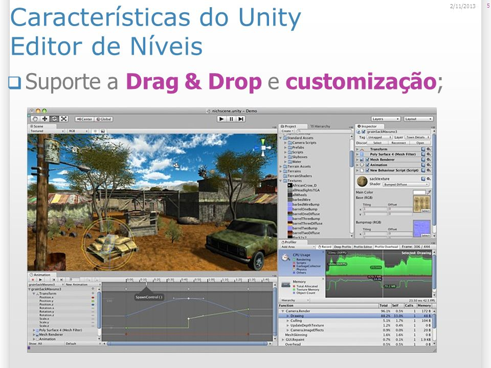 Características do Unity Editor de Níveis