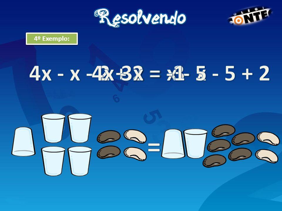 = 4x - x - 2 + 2 = x - x - 5 + 2 4x - 2 = x - 5 3x = -3 x = -1