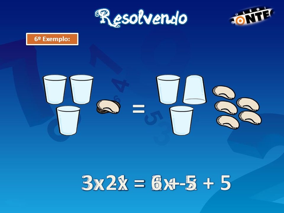 = 3x -1 = 2x -x + 5 3x -1 = x + 5 3x -x = 1 + 5 2x = 6 x = 3