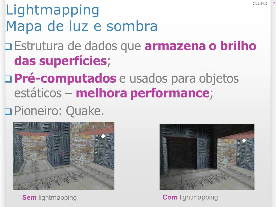 Lightmapping Mapa de luz e sombra