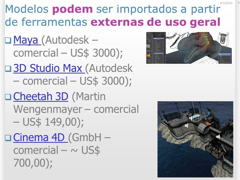 Maya (Autodesk – comercial – US$ 3000);