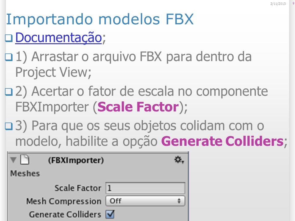 Importando modelos FBX
