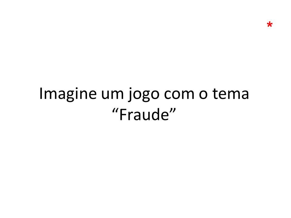 Imagine um jogo com o tema Fraude