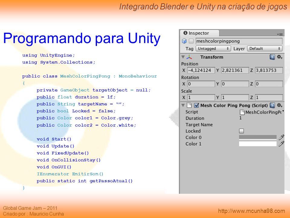 Programando para Unity