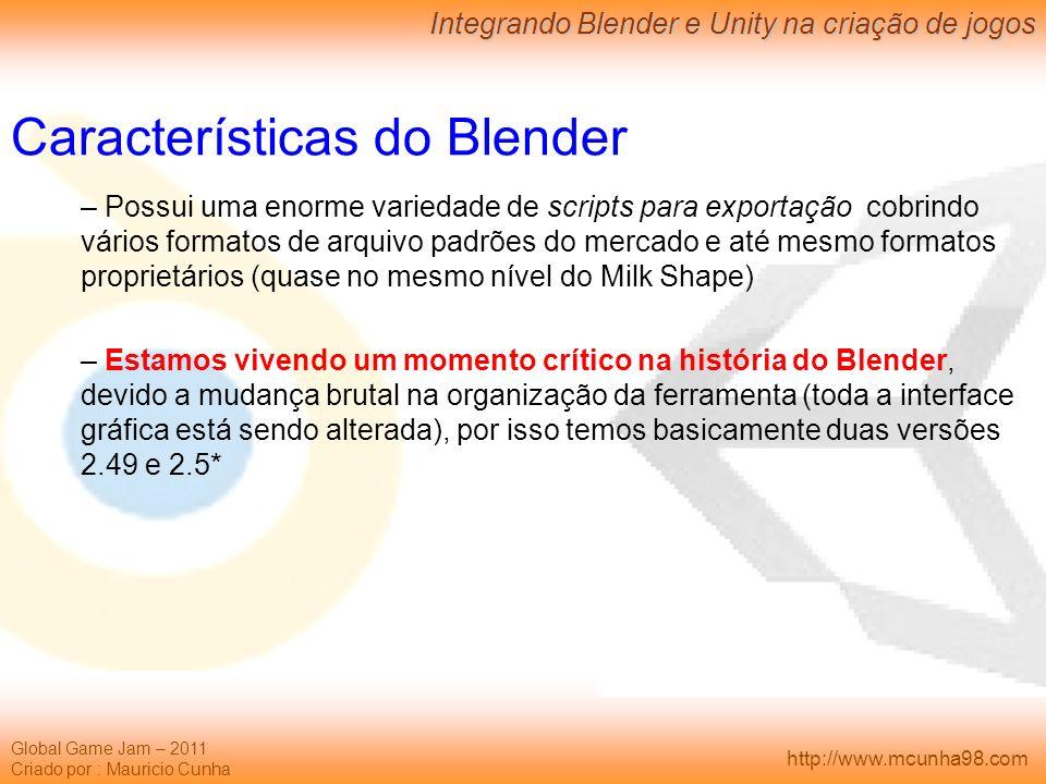 Características do Blender