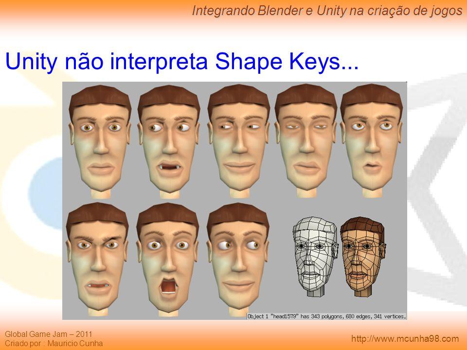 Unity não interpreta Shape Keys...