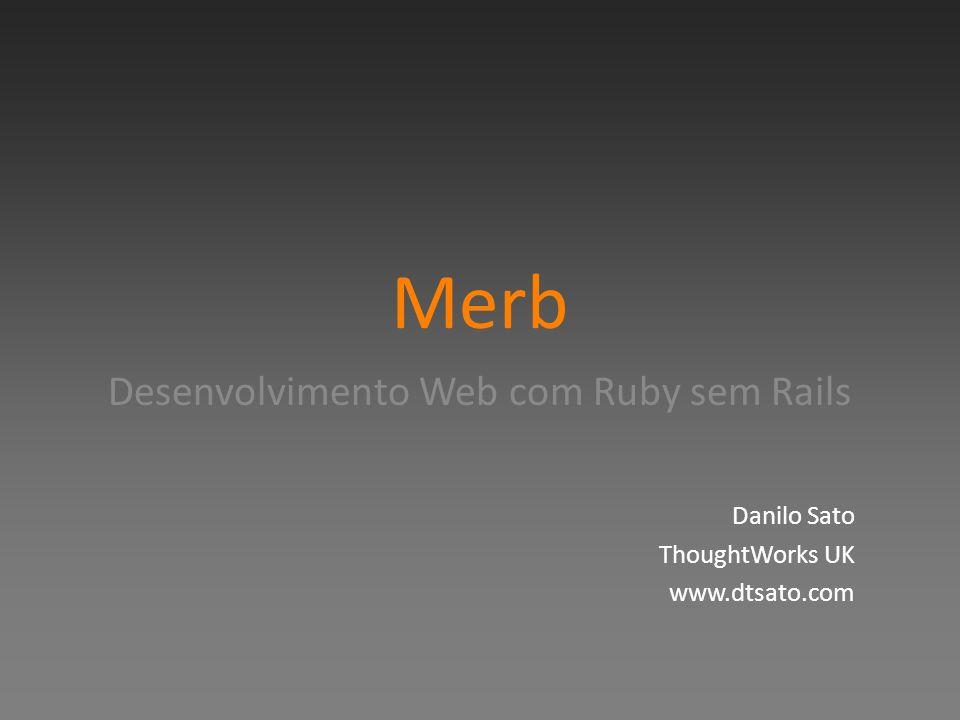 Desenvolvimento Web com Ruby sem Rails