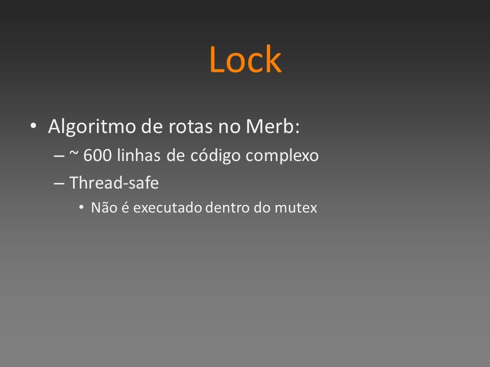 Lock Algoritmo de rotas no Merb: ~ 600 linhas de código complexo