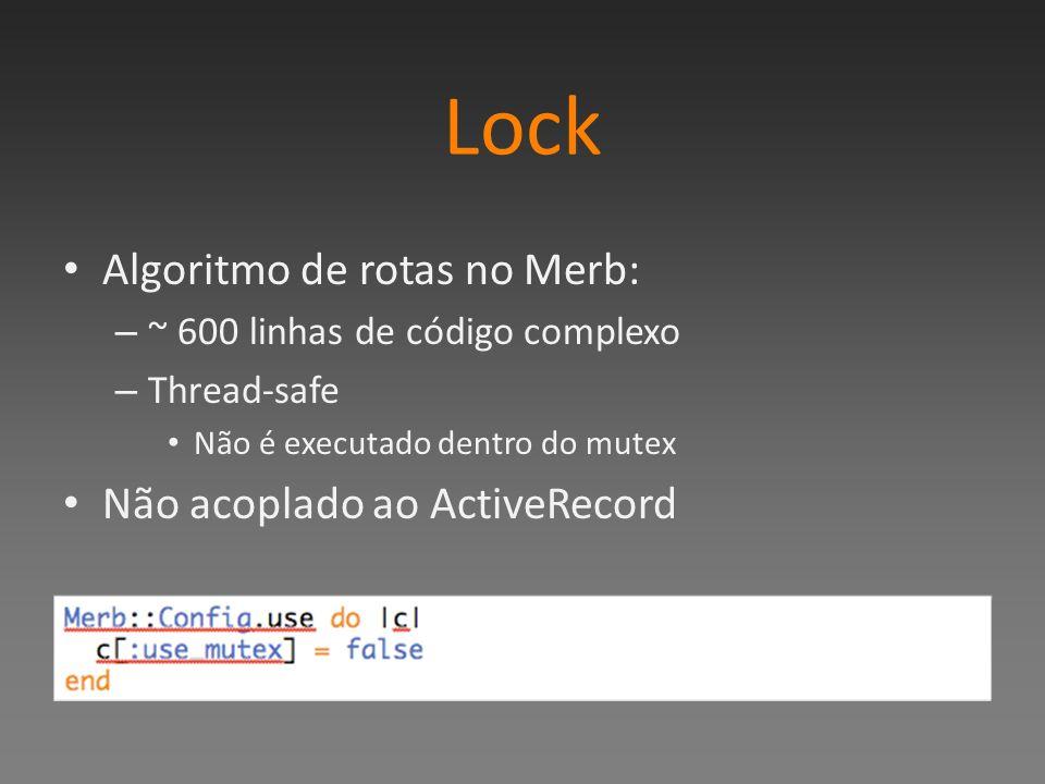 Lock Algoritmo de rotas no Merb: Não acoplado ao ActiveRecord