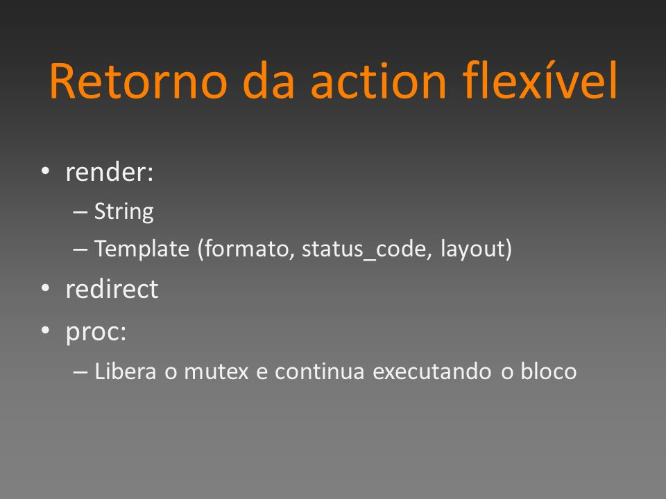Retorno da action flexível