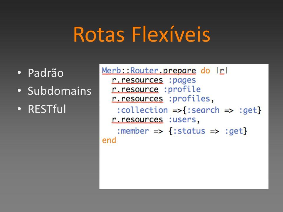 Rotas Flexíveis Padrão Subdomains RESTful