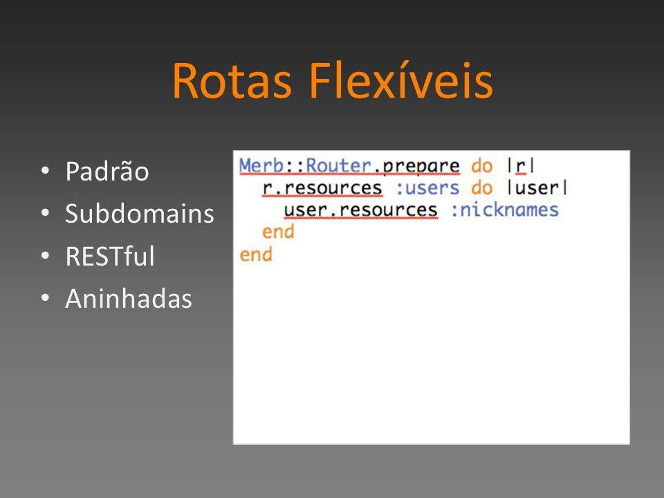 Rotas Flexíveis Padrão Subdomains RESTful Aninhadas
