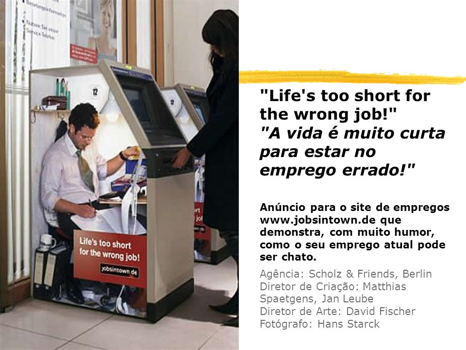 Life s too short for the wrong job