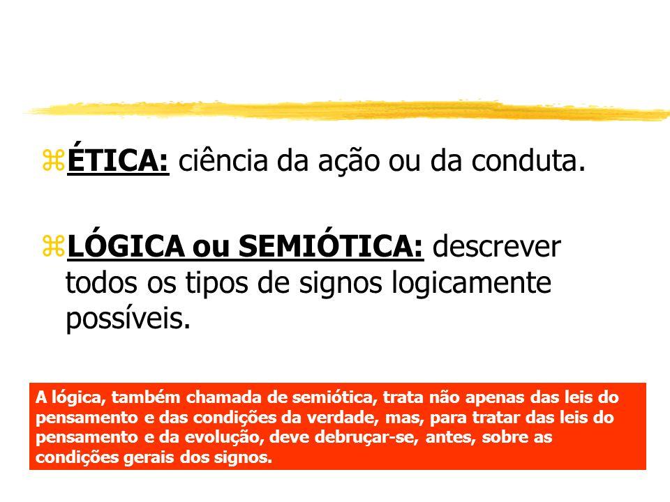 ÉTICA: ciência da ação ou da conduta.