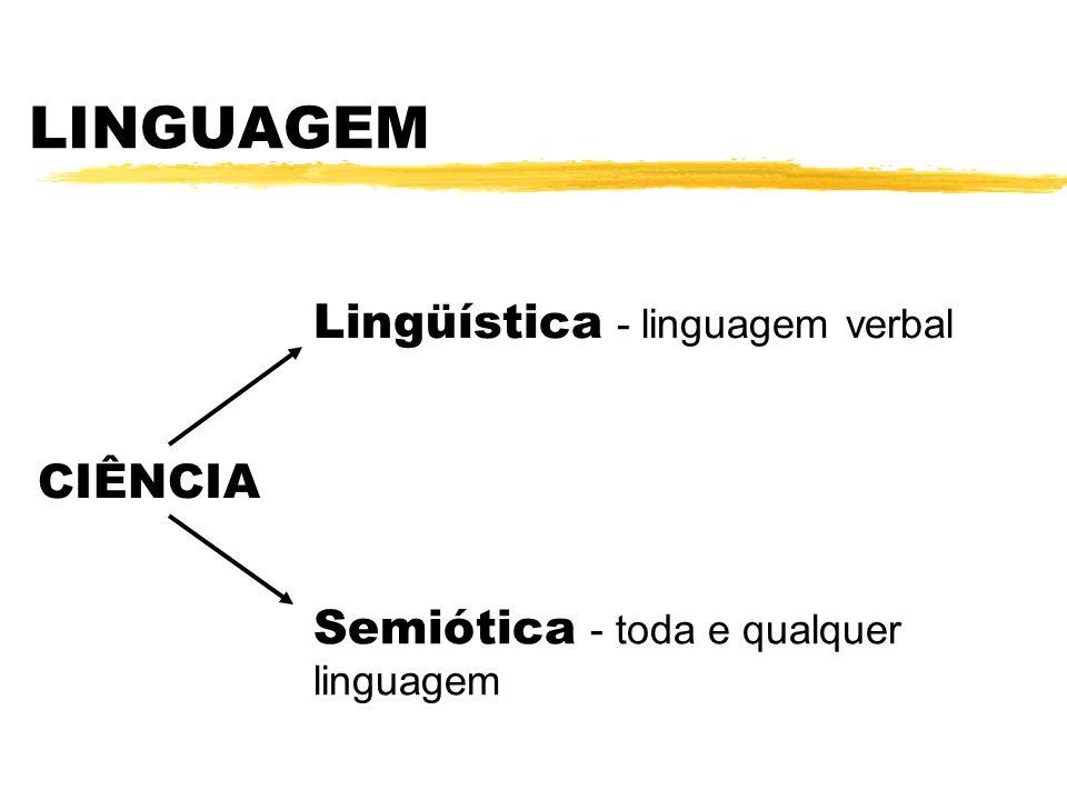 LINGUAGEM Lingüística - linguagem verbal CIÊNCIA