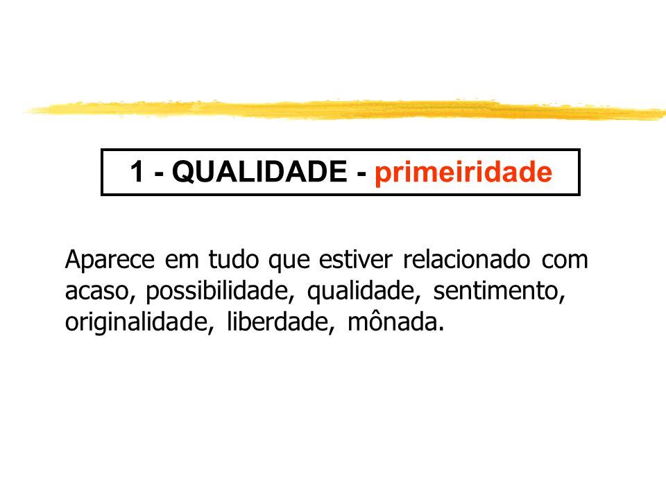 1 - QUALIDADE - primeiridade