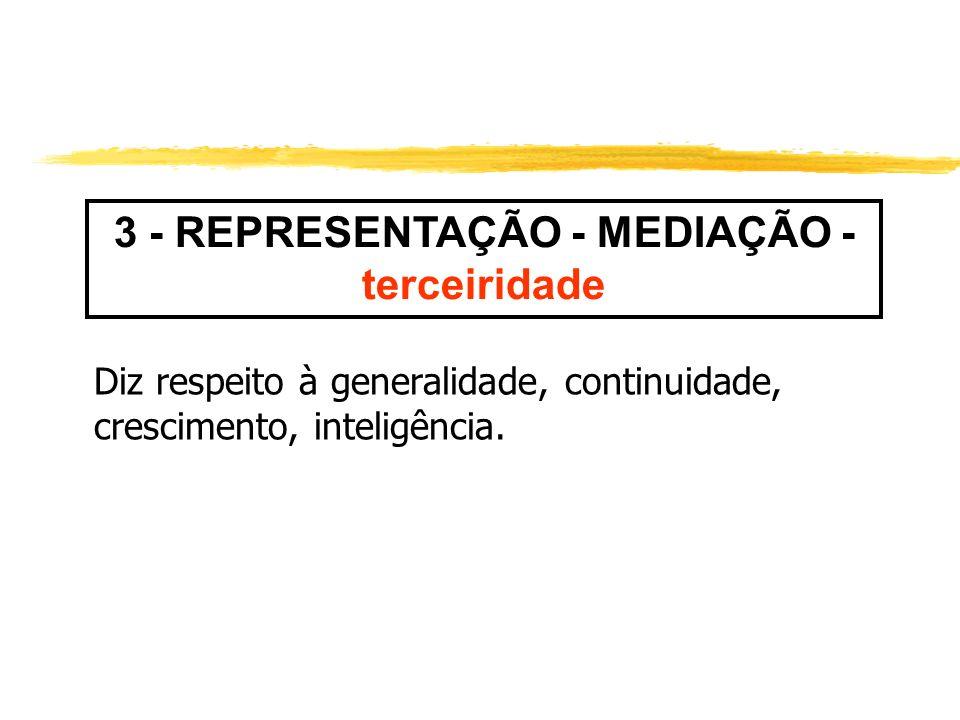 3 - REPRESENTAÇÃO - MEDIAÇÃO - terceiridade