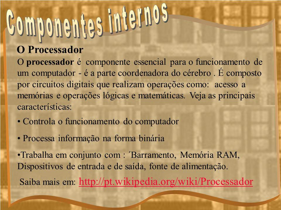 Componentes internos O Processador