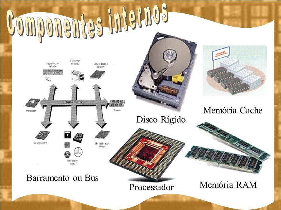 Componentes internos Memória Cache Disco Rígido Barramento ou Bus