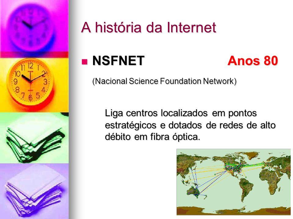 A história da Internet NSFNET Anos 80