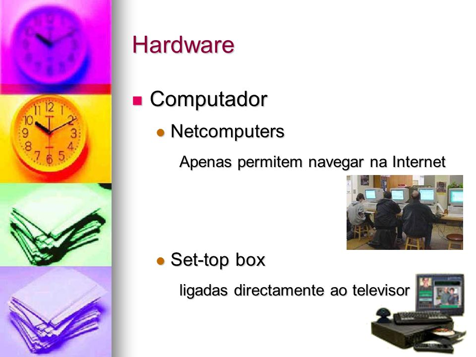 Hardware Computador Netcomputers Set-top box