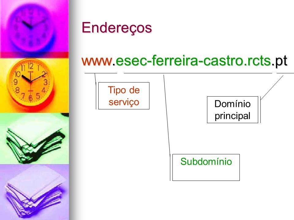 Endereços www.esec-ferreira-castro.rcts.pt Tipo de serviço