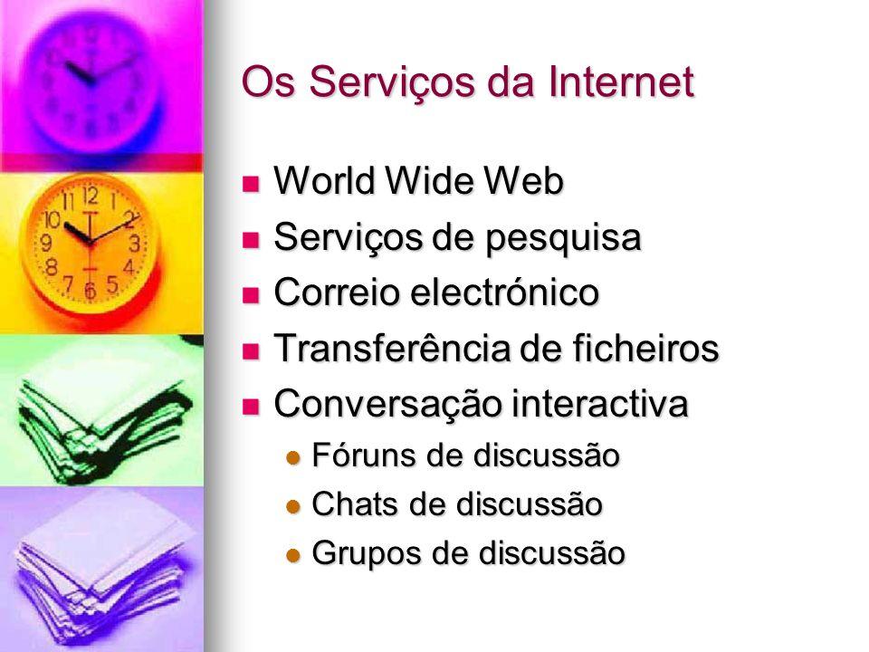 Os Serviços da Internet
