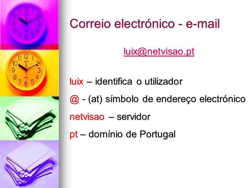 Correio electrónico - e-mail