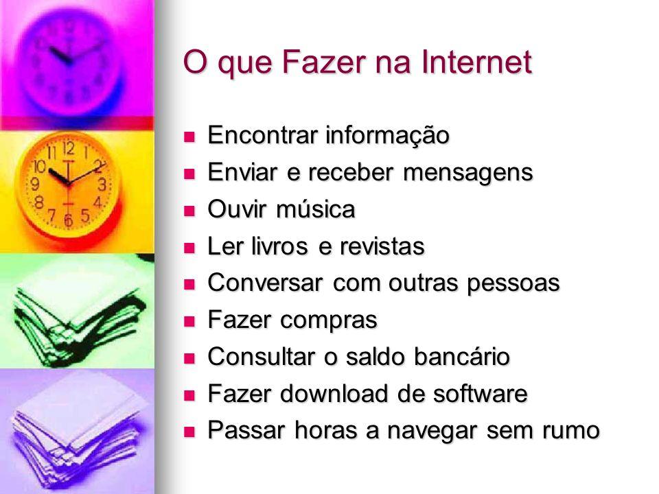 O que Fazer na Internet Encontrar informação