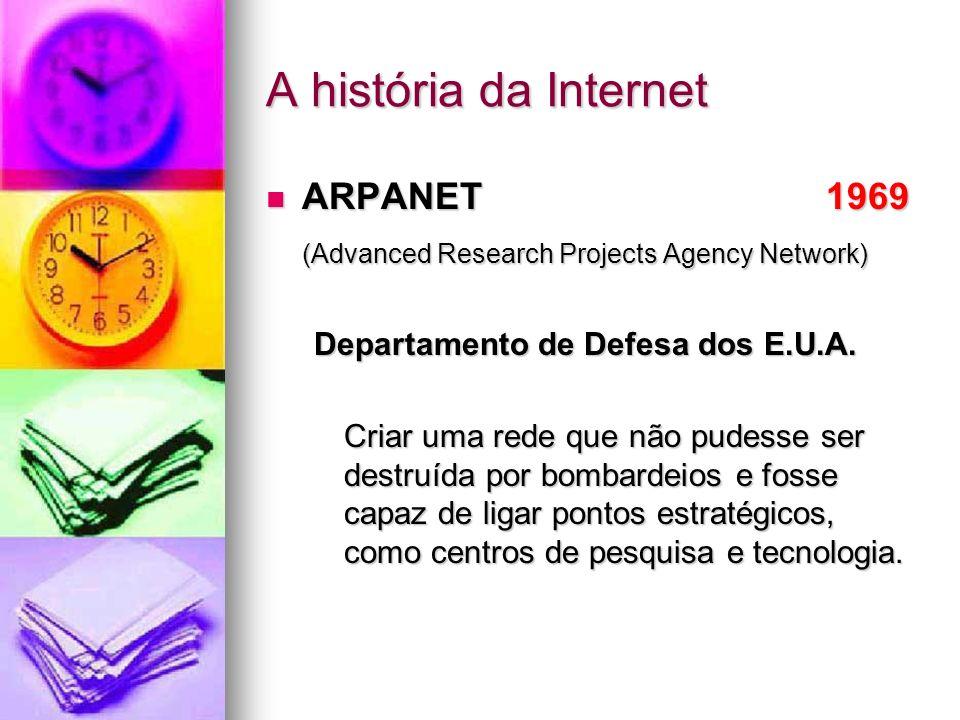 A história da Internet ARPANET 1969