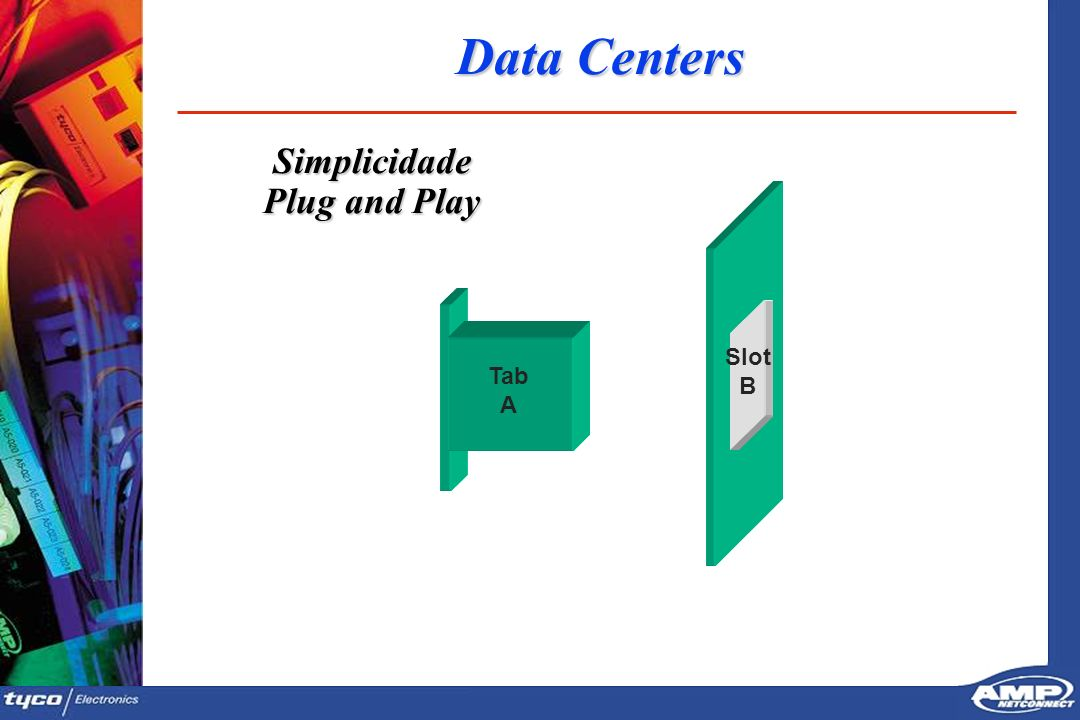Data Centers Simplicidade Plug and Play Tab A Slot B