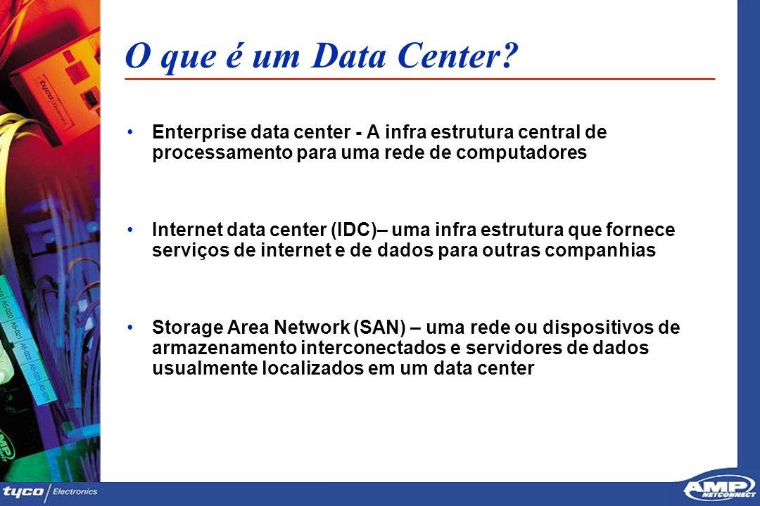 O que é um Data Center Enterprise data center - A infra estrutura central de processamento para uma rede de computadores.