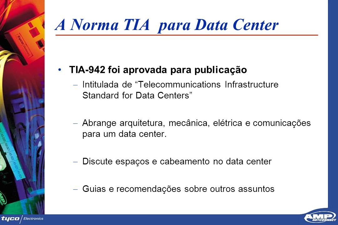 A Norma TIA para Data Center