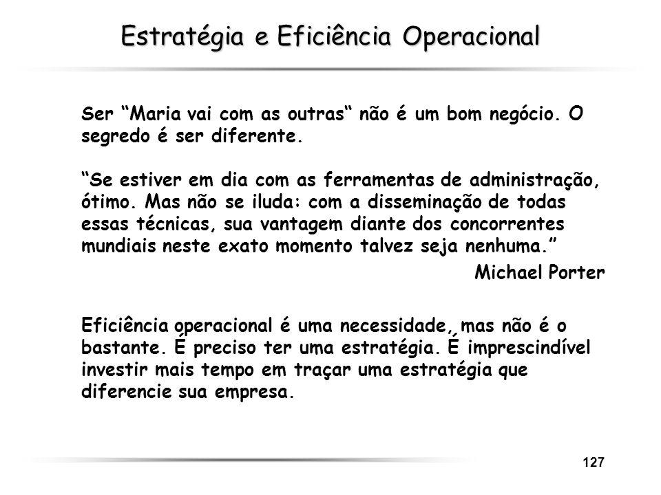 Estratégia e Eficiência Operacional