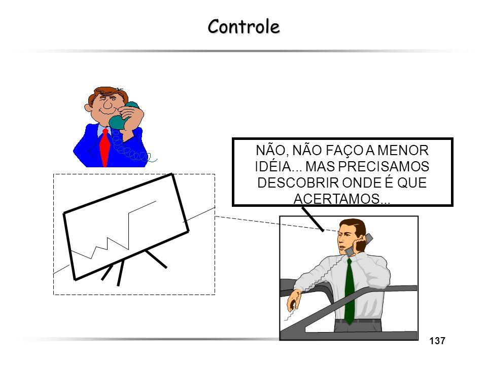 Controle NÃO, NÃO FAÇO A MENOR IDÉIA... MAS PRECISAMOS DESCOBRIR ONDE É QUE ACERTAMOS...