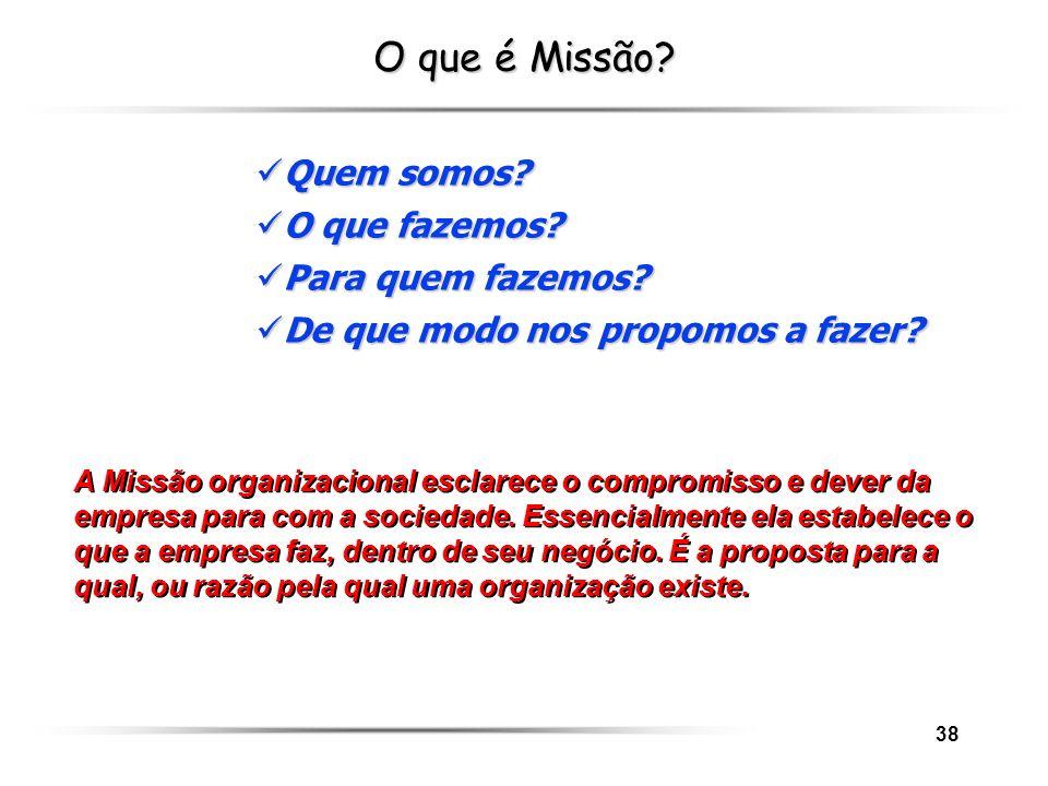 O que é Missão Quem somos O que fazemos Para quem fazemos
