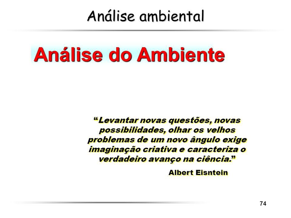 Análise do Ambiente Análise ambiental