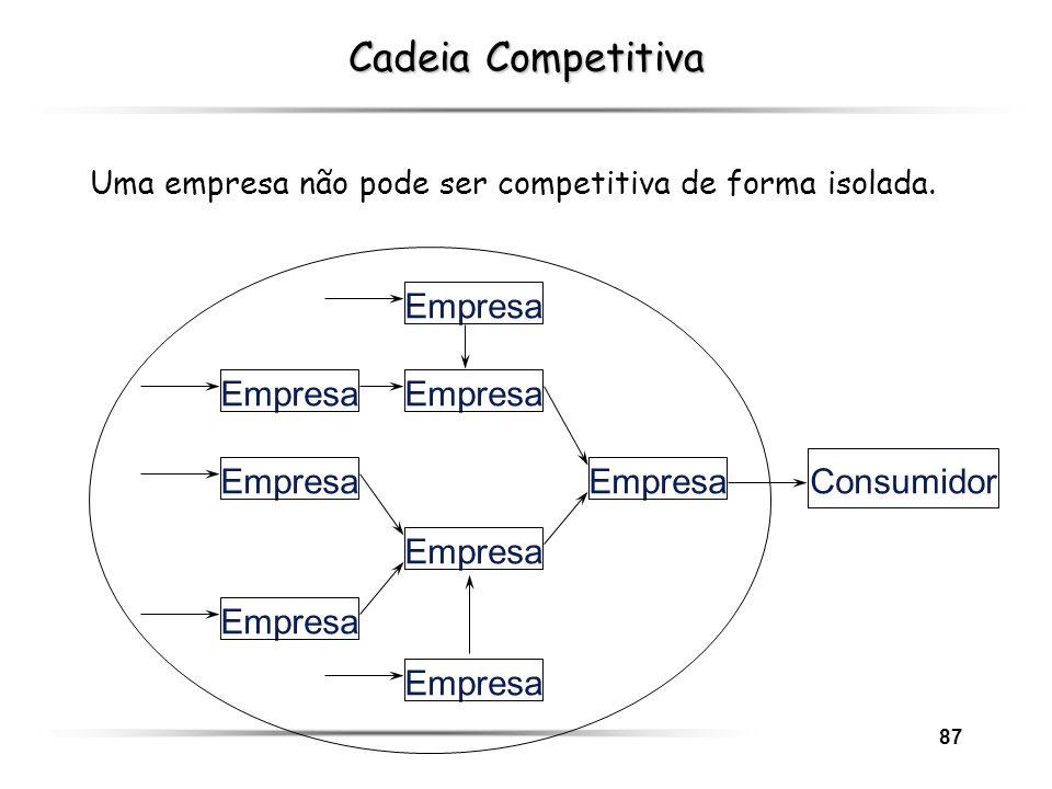 Cadeia Competitiva Empresa Empresa Empresa Empresa Empresa Consumidor
