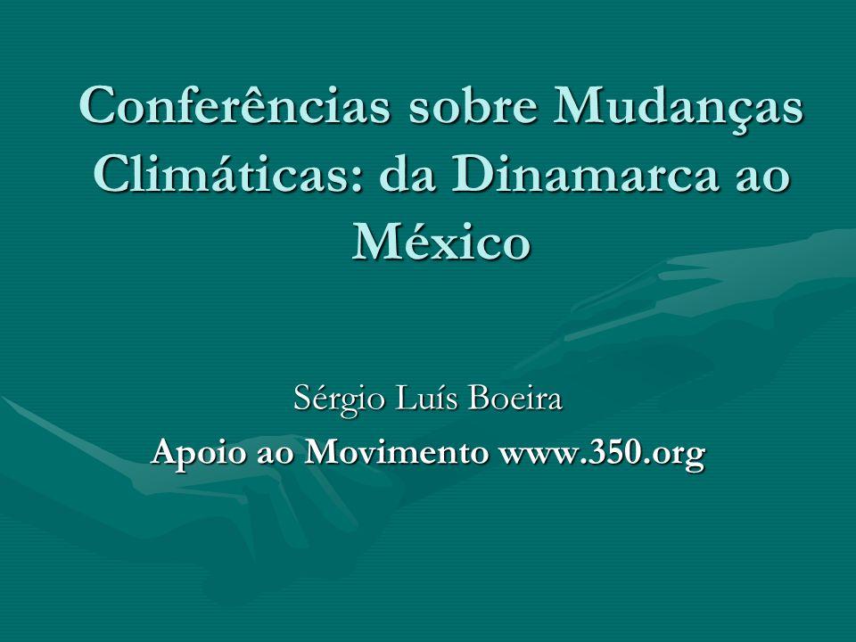 Conferências sobre Mudanças Climáticas: da Dinamarca ao México