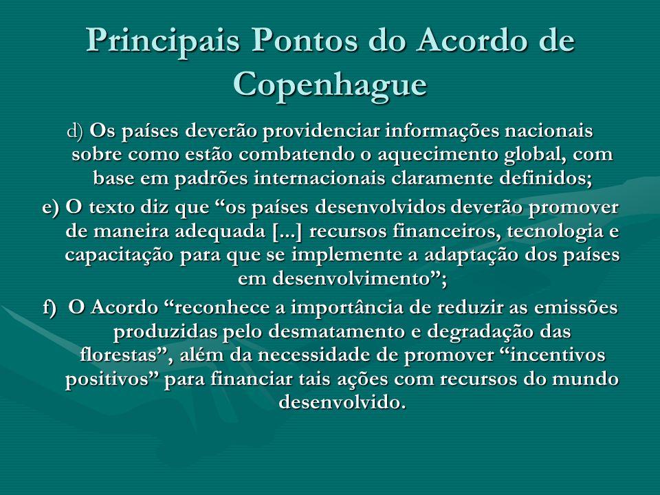 Principais Pontos do Acordo de Copenhague