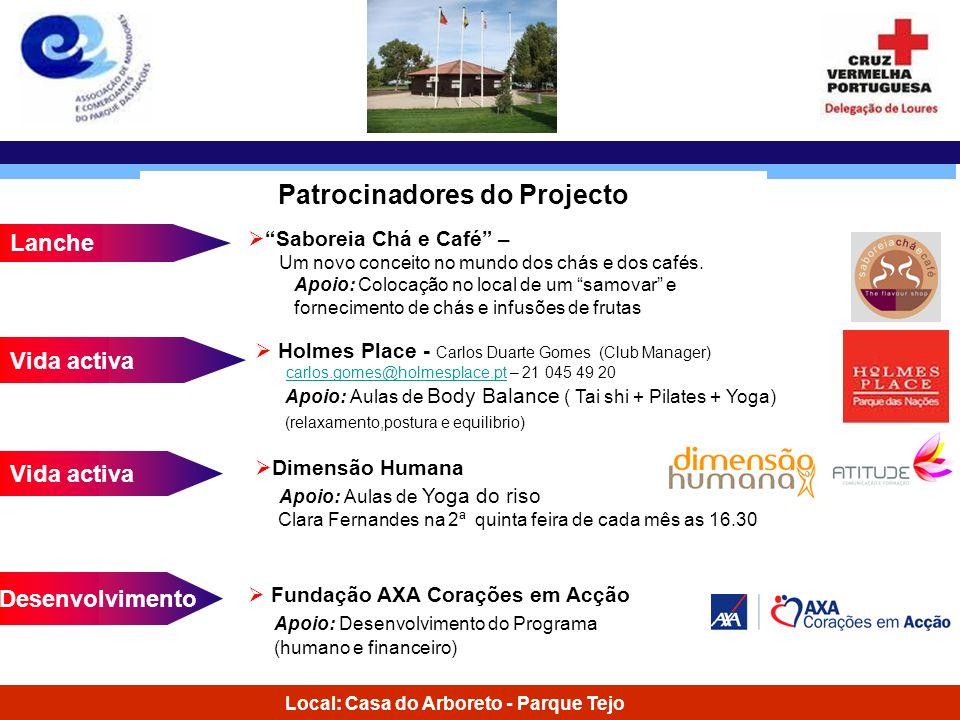 Patrocinadores do Projecto