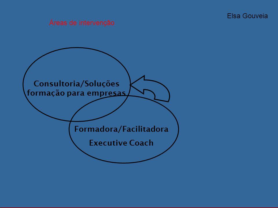 Consultoria/Soluções formação para empresas Formadora/Facilitadora
