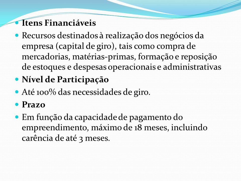 Itens Financiáveis