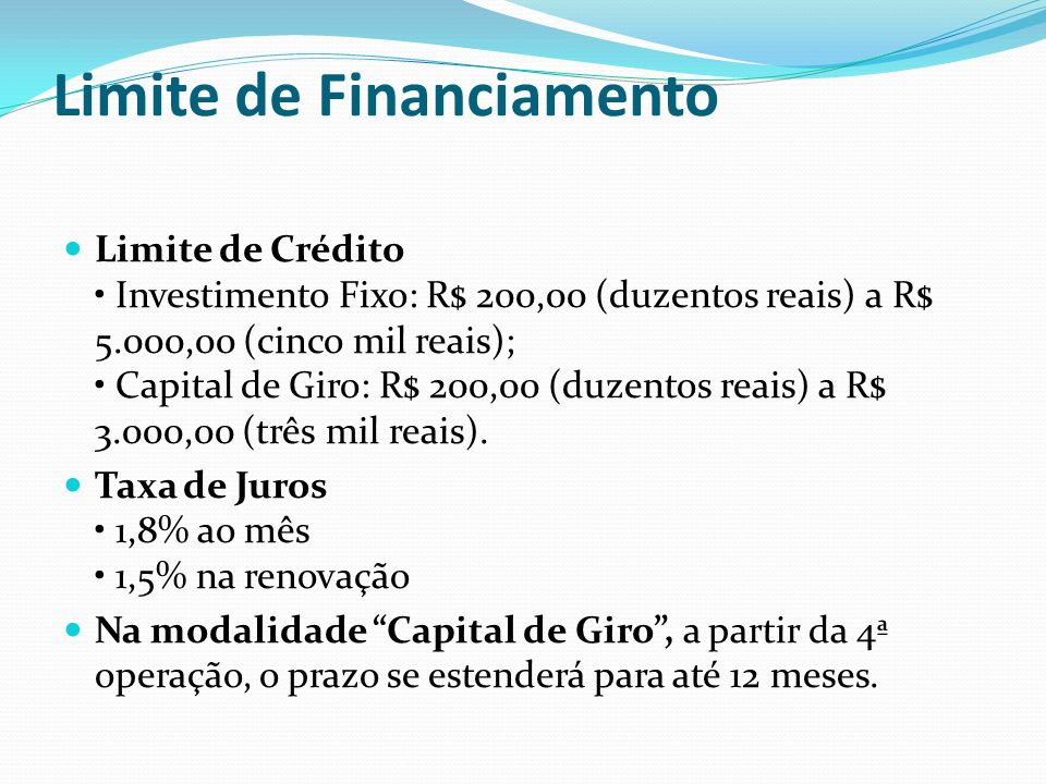 Limite de Financiamento