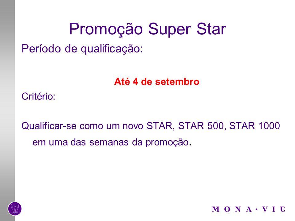 Promoção Super Star Período de qualificação: Até 4 de setembro